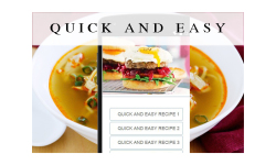 Quick and Easy Recipes food screenshot 1/3