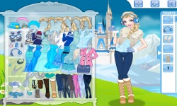 Elsa Princess Today Dress Up Game screenshot 1/4