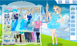 Elsa Princess Today Dress Up Game screenshot 3/4