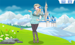 Elsa Princess Today Dress Up Game screenshot 4/4