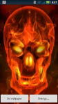 Red Flame Skull Live Wallpaper screenshot 2/3