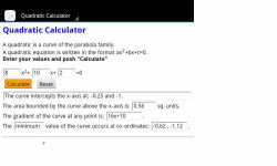 Quadratic Calculator screenshot 2/3