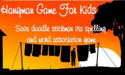Hangman Game For Kids - Words save doodle stickman screenshot 1/6