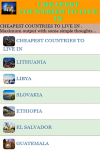 CHEAPEST COUNTRIES TO LIVE IN screenshot 2/3