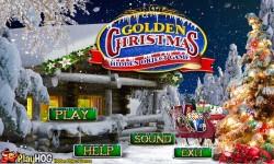 Free Hidden Object Game - Golden Christmas screenshot 1/4