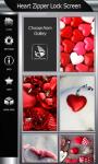 Heart Zipper Lock Screen Best screenshot 4/6