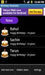 Birthday Reminder App screenshot 1/4