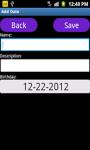 Birthday Reminder App screenshot 2/4