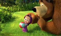 masha bear with cute action wallpaper screenshot 3/6