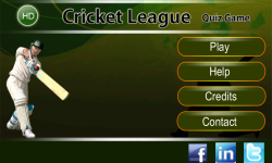 CRICKET LEAGUE HD screenshot 1/3