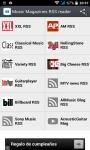 Music Magazines RSS reader screenshot 1/3