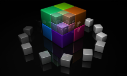 3d cube wallpaper screenshot 3/4