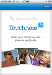 Touchnote Postcards for iPhone screenshot 1/4
