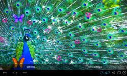 3D Peacocks Live Wallpaper screenshot 2/4