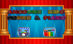 Awesome Kids Drums and Piano screenshot 1/4