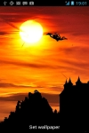 Hanumanji Flying Live Wallpaper with Sunset screenshot 1/3