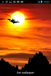 Hanumanji Flying Live Wallpaper with Sunset screenshot 2/3