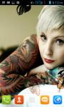 Girl With Tattoo Live Wallpaper Free screenshot 1/4