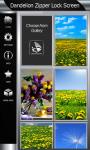 Best Dandelion Zipper Lock Screen screenshot 4/6