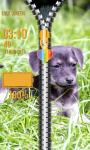 Zipper Lock Screen Puppy screenshot 5/6