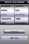 ehirler Aras Mesafe + screenshot 1/1