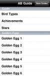 iCheats - Angry Birds Golden Eggs, Stars and Achievements Edition screenshot 1/1
