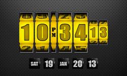 3D Rolling Clock widgets GOLD screenshot 1/1