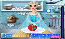 Elsa Cooking Applepie screenshot 1/4