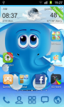 Cool Blue Theme Go Launcher  screenshot 1/3