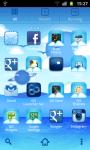 Cool Blue Theme Go Launcher  screenshot 2/3