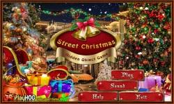 Free Hidden Object Game - Street Christmas screenshot 1/4