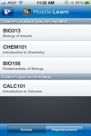Blackboard Mobile Learn for iPhone screenshot 1/1