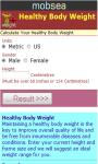 Healthy Body Weight Calculator v-1 screenshot 2/3