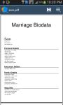 Biodata screenshot 2/4