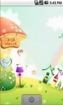 Cute Rainbow Mushroom Live Wallpaper screenshot 1/5
