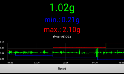 Accelerometer g-force meter screenshot 2/2