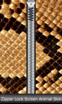 Zipper Lock Screen Animal Skin screenshot 1/6