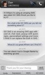 GO SMS Pro simple dark theme screenshot 3/4
