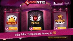 Gamentio - 3D casino card games screenshot 1/4