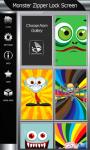 Monster Zipper Lock Screen screenshot 4/6