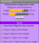 Calculate BMI screenshot 2/2