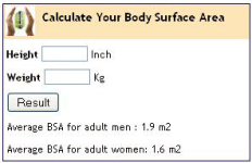 Body Surface Area screenshot 1/2