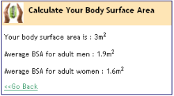 Body Surface Area screenshot 2/2