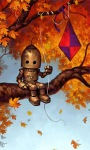 Robot Autumn Kite LWP screenshot 2/3