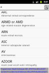 Ophthalmic Abbreviations screenshot 1/3