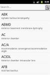 Ophthalmic Abbreviations screenshot 2/3