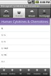 Cytokines and Chemokines screenshot 2/3