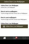 Celine Dion Live Wallpaper screenshot 2/5