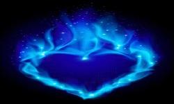 Blue Fire Heart Live Wallpaper screenshot 2/3