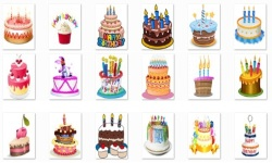 Birthday Cake Onet Classic Game screenshot 1/2
